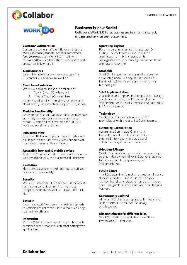 Work 3.0 Datasheet