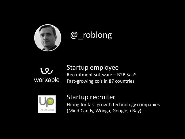 Startup employee Recruitment software – B2B SaaS Fast-growing co's in 87 countries Startup recruiter Hiring for fast-growt...