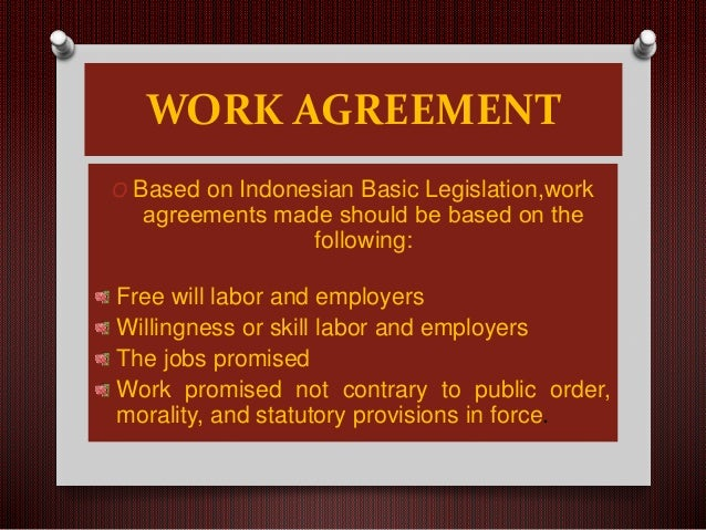 Work Agreement Collective Working Agreement And Labor