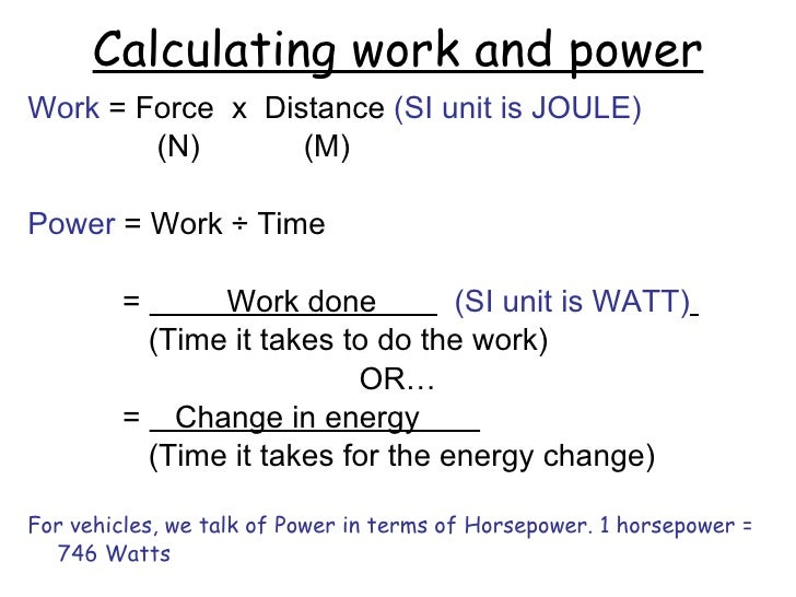 Work and Power grouped