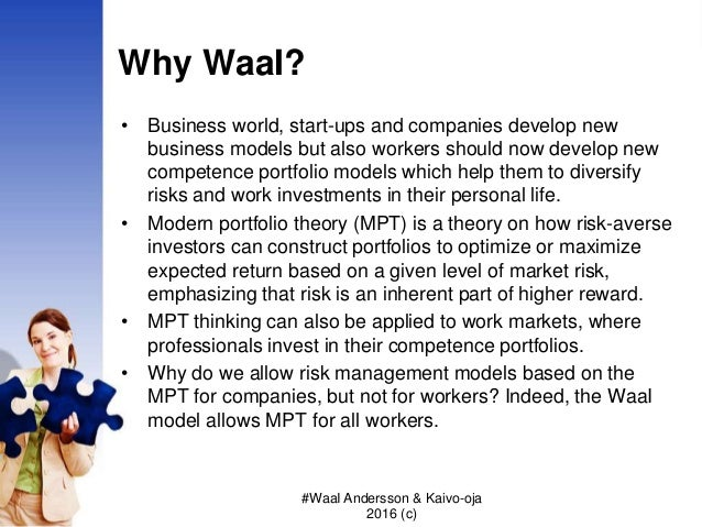 Why WaaI? • Business world, start-ups and companies develop new business models but also workers should now develop new co...