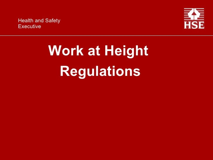 Work at Height  Regulations Health and Safety  Executive