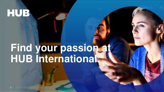 © 2016 HUB International Limited.1 © 2016 HUB International Limited.1 Find your passion at HUB International.