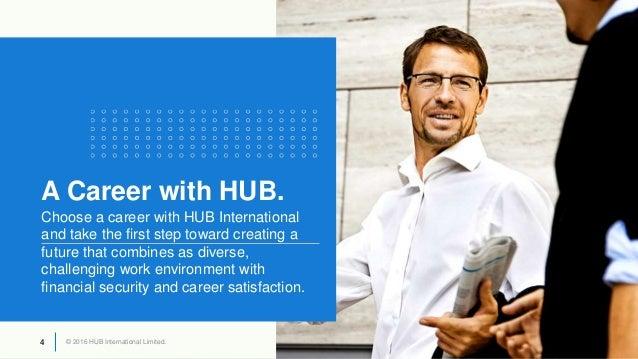© 2016 HUB International Limited.4 © 2016 HUB International Limited.4 A Career with HUB. Choose a career with HUB Internat...