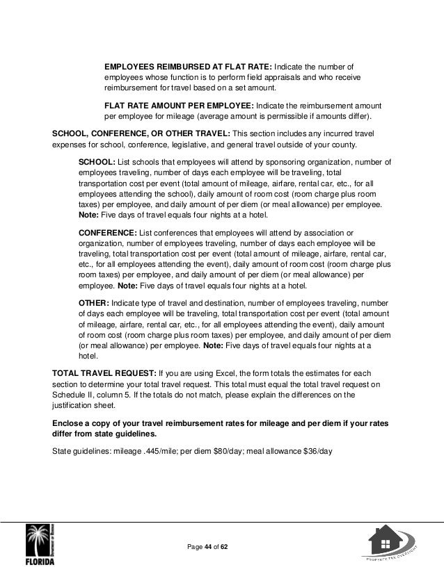 Property Appraisers Instruction Workbook 2017-18 Budget Planning