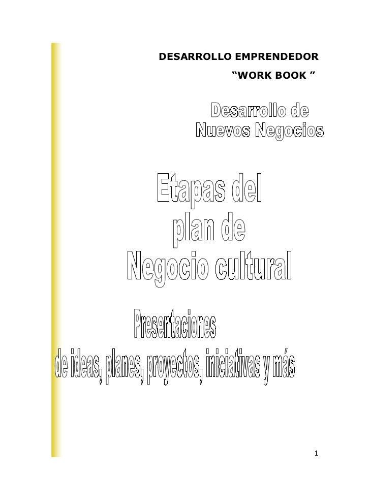 "DESARROLLO EMPRENDEDOR          ""WORK BOOK ""                     1"
