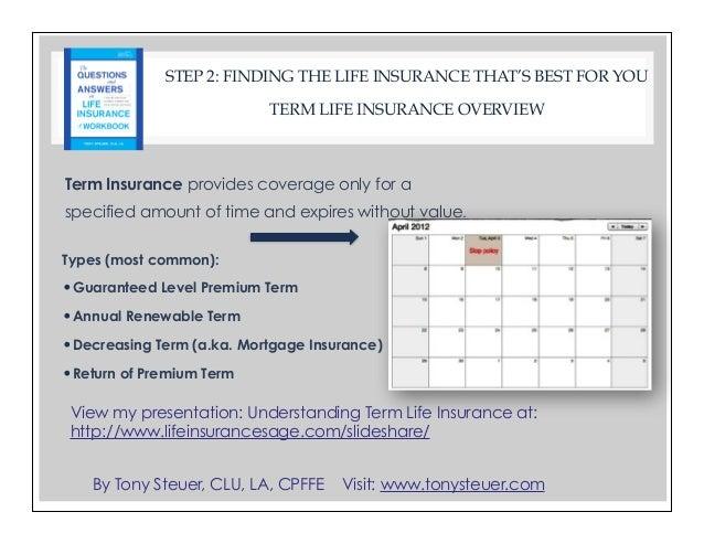 Life Insurance Workbook