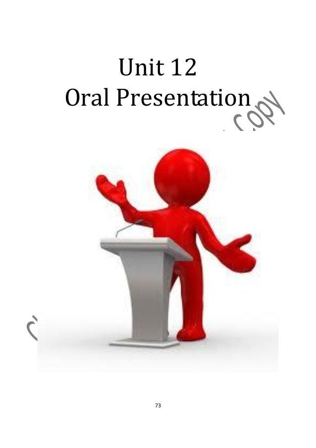 Unit 12Oral Presentation        73