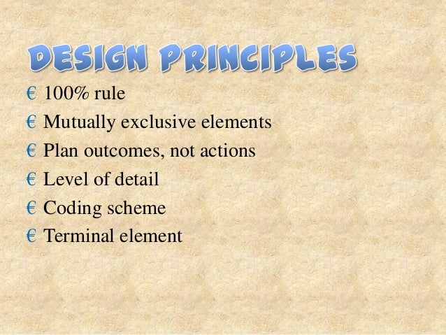 """₪ Elements of each WBS Element:  €   The scope of the project, """"deliverables"""" of the project.  €   Start and end time of t..."""