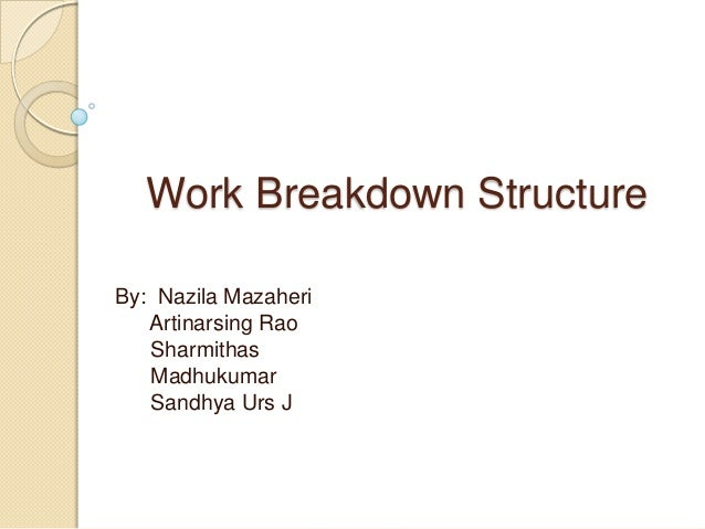 software work breakdown structure template