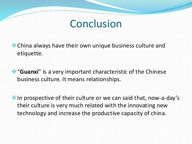 Work culture of china