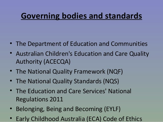 education and care services national regulations 2011 pdf