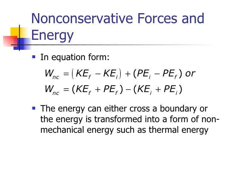 Work Energy And Power Formula For Mechanical Energy