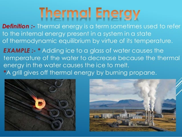 Thermal Energy Lesson for Kids: Definition & Examples ...