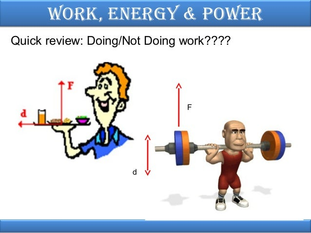 Work, energy & power physics