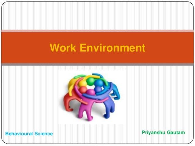 Priyanshu Gautam Work Environment Behavioural Science