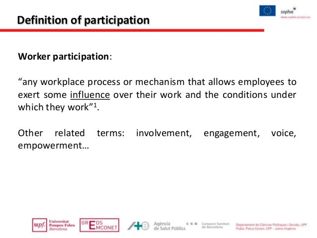 management employment and representative participation Retain responsibility for the final decision, to participation mechanisms involving representative structures where workers are major parties to these decisions ( hyman & mason 1995) it is commonly argued that the renewed interest in employee participation in decision-making apparent in management and industrial.