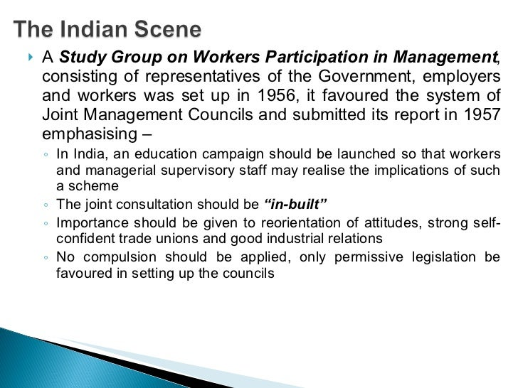 workers participation in management management essay This is not an example of the work written by our professional essay writers the importance of trade unions  from the management  workers participation in.