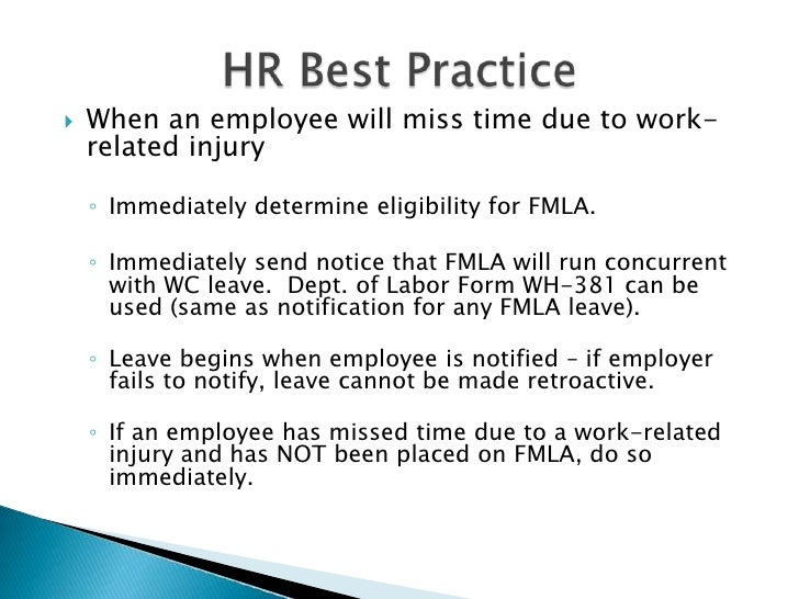 Workers Comp And Fmla
