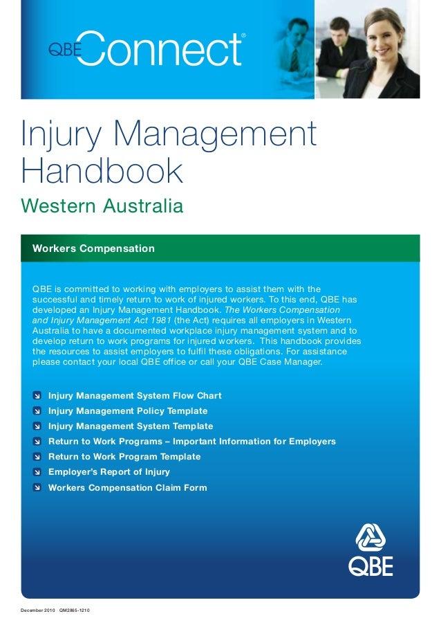 injury management handbook western australia december 2010 qm2865 1210 workers compensation injury management system