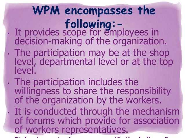 thesis on workers participation in management European journal of business and management  employees motivation on organizational effectiveness  the impact of employees' motivation on organizational.