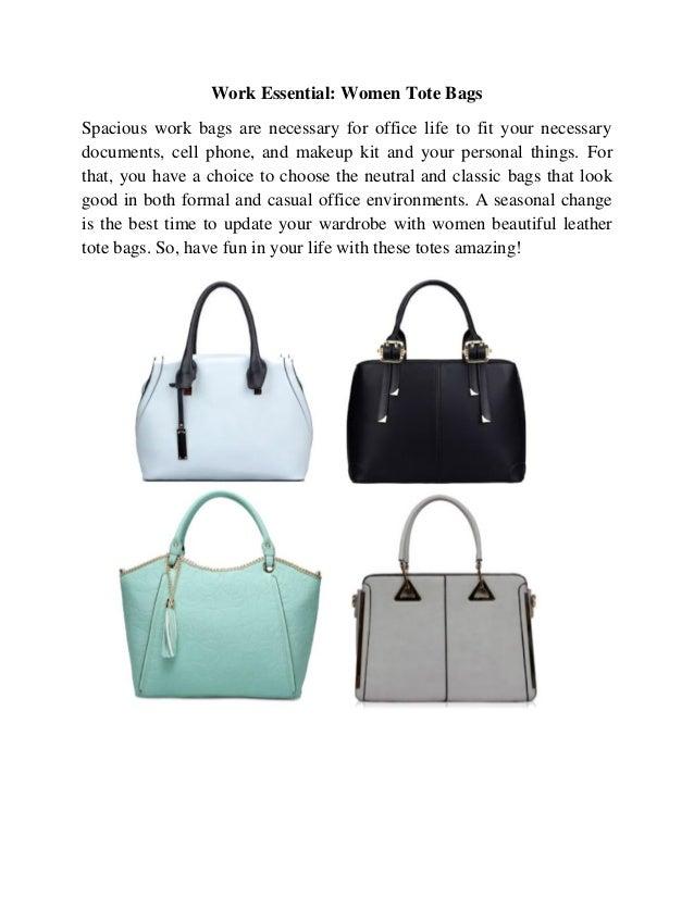 Work Essential Women Tote Bags f57c76caee321