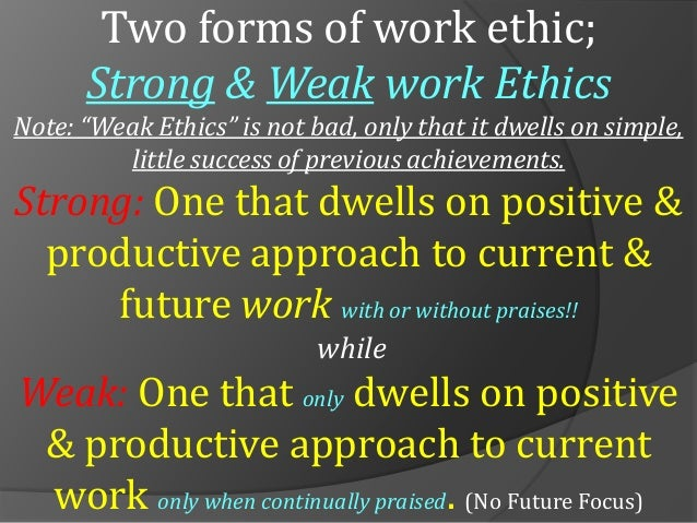 what is work ethics