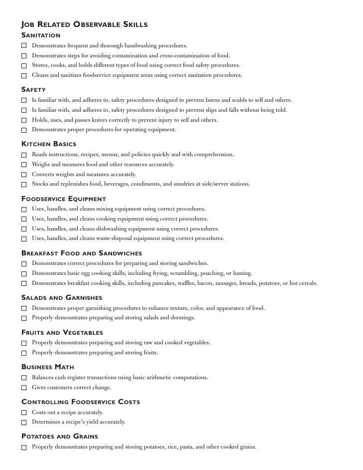 Enchanting Resume Checklist Of Personal Skills Mold - Professional ...