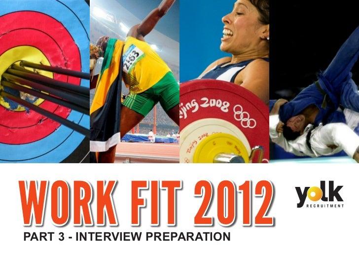 WORK FIT 2012PART 3 - INTERVIEW PREPARATION