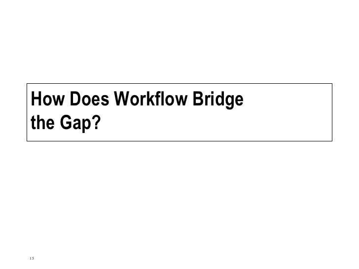 How Does Workflow Bridge the Gap?