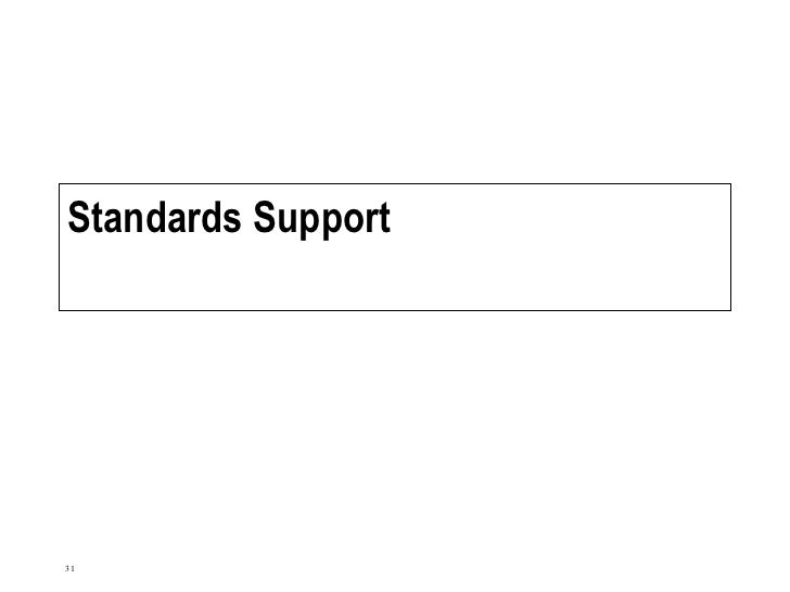 Standards Support