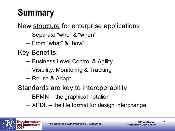 """Summary <ul><li>New  structure  for enterprise applications </li></ul><ul><ul><li>Separate """"who"""" & """"when"""" </li></ul></ul><..."""