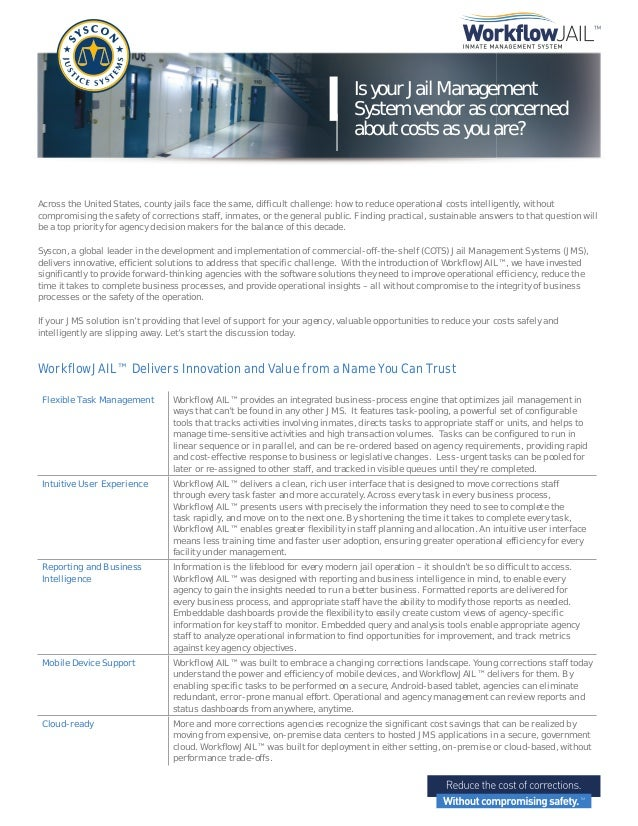 Is your Jail Management System vendor as concerned about costs as you are?  Across the United States, county jails face th...