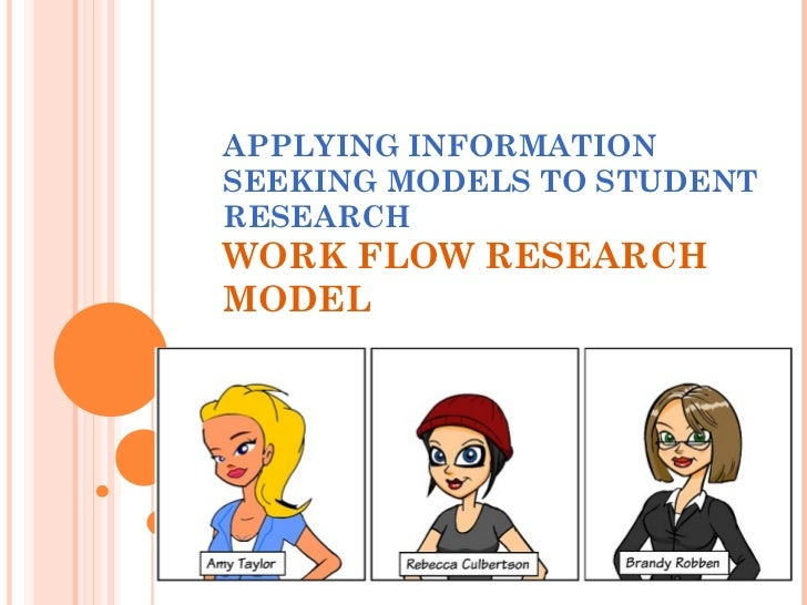APPLYING INFORMATION SEEKING MODELS TO STUDENT RESEARCH WORK FLOW RESEARCH MODEL
