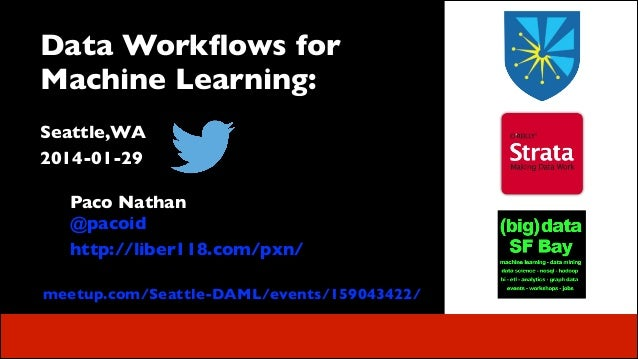 Data Workflows for Machine Learning:	  