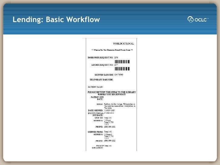 Lending: Basic Workflow
