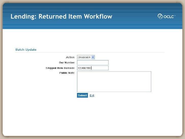 Lending: Returned Item Workflow