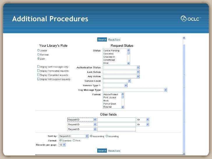 Additional Procedures