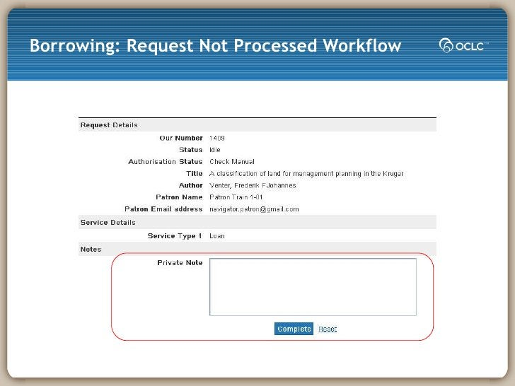 Borrowing: Request Not Processed Workflow