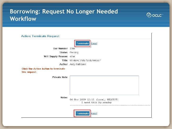 Borrowing: Request No Longer Needed Workflow