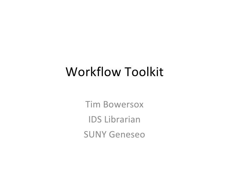 Workflow Toolkit