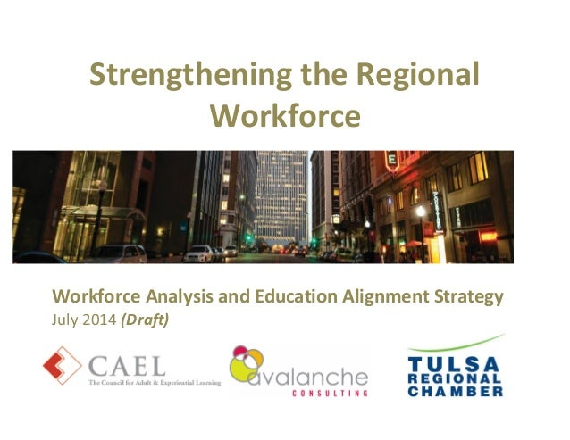 Strengthening the Regional Workforce Workforce Analysis and Education Alignment Strategy July 2014 (Draft)