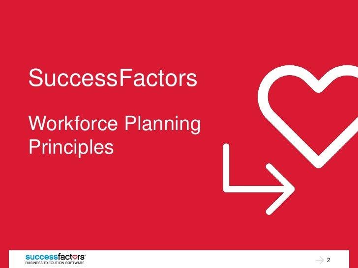 SuccessFactorsWorkforce PlanningPrinciples                     2