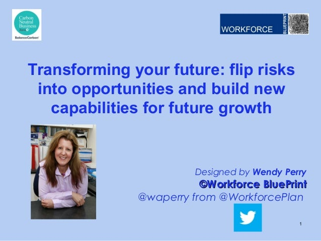 Transforming your future: flip risks into opportunities and build new capabilities for future growth  Designed by Wendy Pe...