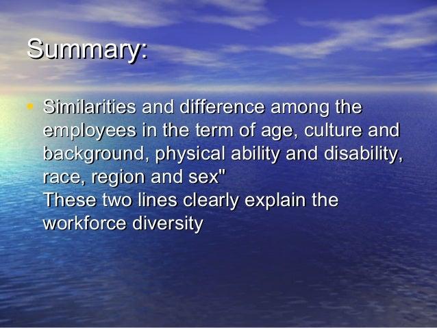 Workforce diversity Slide 3