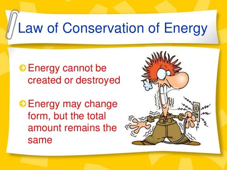 Principle conservation energy