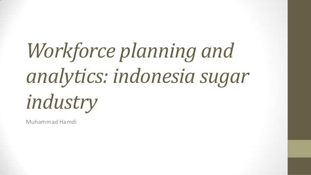 Workforce planning and analytics: indonesia sugar industry Muhammad Hamdi