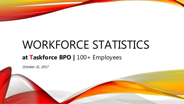 WORKFORCE STATISTICS at Taskforce BPO | 100+ Employees October 31, 2017