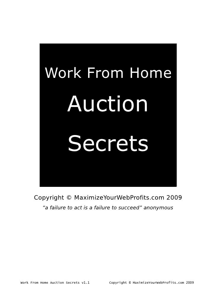 Work From Home                         Auction                        Secrets        Copyright © MaximizeYourWebProfits.co...