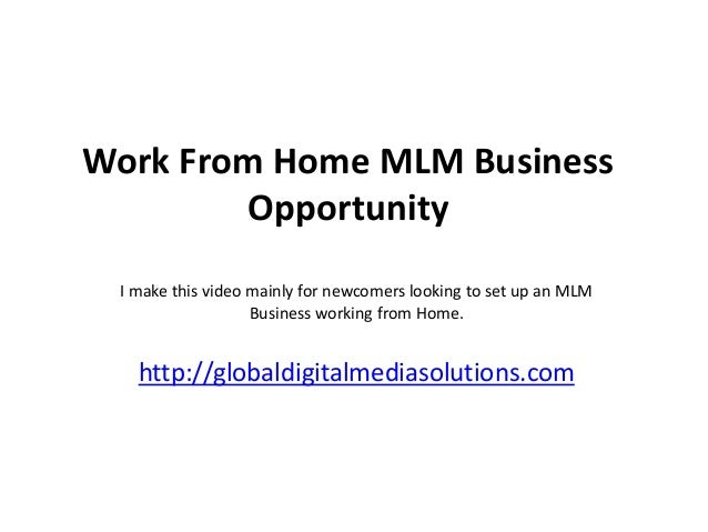 Work From Home MLM Business        Opportunity I make this video mainly for newcomers looking to set up an MLM            ...
